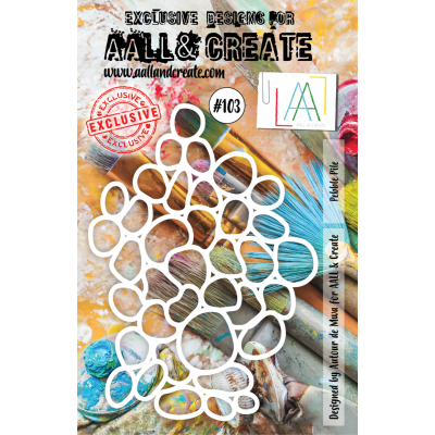 AALL and Create Stencil  MASK PEBBLE PILE 103