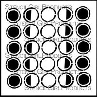 Carved Moon Phases Stencil S498 by StencilGirl Products