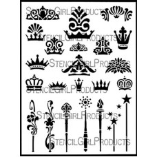 Crowns and Scepters Stencil by StencilGirl Products
