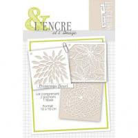 Set of stencils and masks - Printemps Fleuri Flowers - L'Encre et l'Image