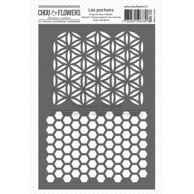 Chou & Flowers Voyage Imaginaire - Duo Memories Stencil