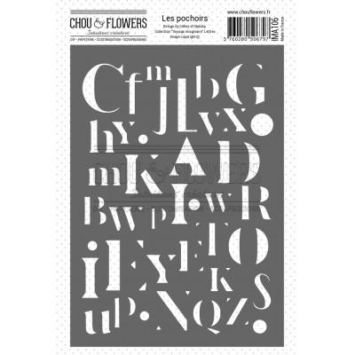 Chou & Flowers Voyage Imaginaire - Letter Stencil