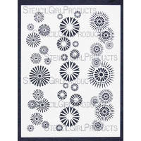 Border Circles Stencil for StencilGirl Products