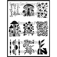 ATC Mixup Adams: Toadstools - StencilGirl Products