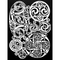 Celtic Spirals Mask - StencilGirl Products