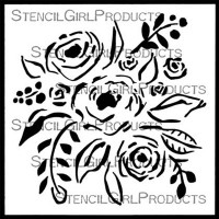 Rose Bouquet Stencil by StencilGirl Products