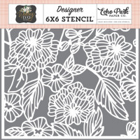 Floral Bouquet Template 15 x 15 cm - Echo Park
