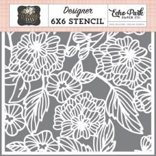 Floral Bouquet Template 15 x 15 cm - Echo Park