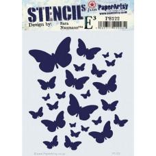 PaperArtsy stencil - ESN PS122 - butterflies
