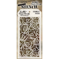 Tim Holtz Layering Stencil - Scribbles