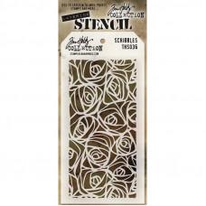 Tim Holtz Layering Stencil - Scribbles
