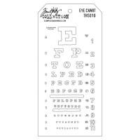 Tim Holtz Layering Stencil - Eye chart