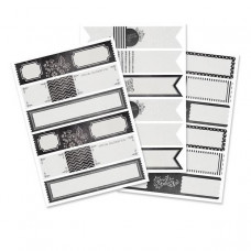 Couvre-enveloppes 'Envelope wraps' Noir et blanc 'chalkboard'