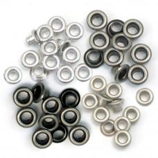 Oeillets - 'cool metal' Tons métal argenté