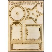 PaperArtsy embellissements en bois conçu par Seth Apter