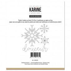 Sewing stencil from Les Ateliers de Karine - Pochoir broderie Flocons Graphiques