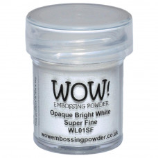 Wow! Embossing Powder - Bright white Opaque Superfine