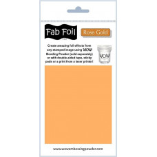 WOW! Fab foil transfer sheets - Rose Gold