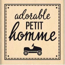 Adorable petit homme - Tampon bois Florilèges Design