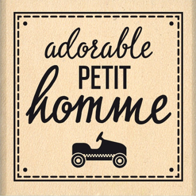 Adorable petit homme -  Wood Mounted Florilège Stamp