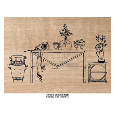 Chou & Flowers Wood Mounted Stamp - Ambiance Cuisine