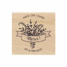 AMITIÉ SI PRÉCIEUSE- Tampon bois Florilèges Design
