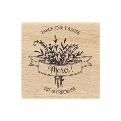 AMITIÉ SI PRÉCIEUSE -  Wood Mounted Florilège Stamp