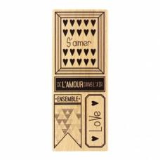 L'AMOUR DANS L'AIR- Tampon bois Florilèges Design