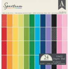 AUTHENTIQUE 'Spectrum' Collection 12x12 Pad