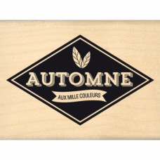 AUTOMNE AUX MILLE COULEURS -  Wood Mounted Stamp Florilèges Design