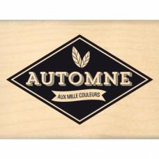 AUTOMNE AUX MILLE COULEURS Tampon bois