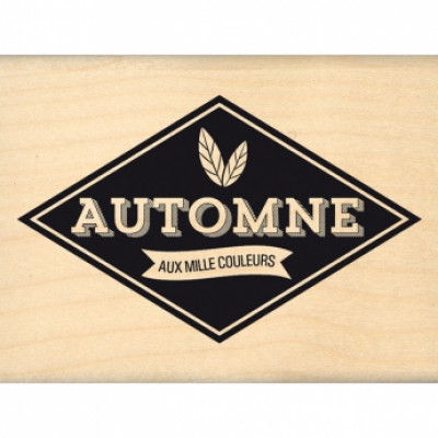 AUTOMNE AUX MILLE COULEURS -  Wood Mounted Stamp Florilèges Design