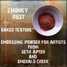 Baked Texture Poudres d'embossage par Seth Apter - Chunky Rust
