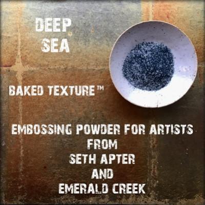 Baked Texture Embossing Powder - Deep sea