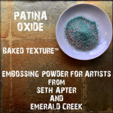 Baked Texture Embossing Powder by Seth Apter - Patina Oxide