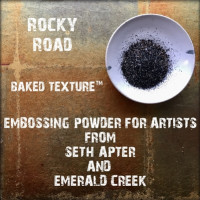 Baked Textures Poudres d'embossage par Seth Apter - Rocky Road