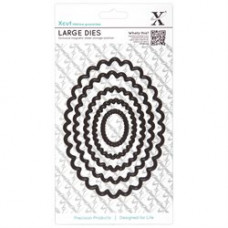 X-Cut Nesting Dies, Large, Scalloped Oval