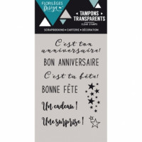 BON ANNIVERSAIRE Stamp by Florilèges Design.