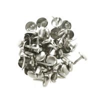 50 Silver coloured Brads - Kesi'art