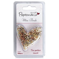 PaperMania 200 Mini Brads - Assorted Gloss Metallics