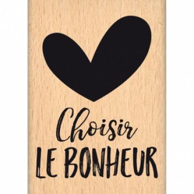 CHOISIR LE BONHEUR-  Wood Mounted Florilège Stamp