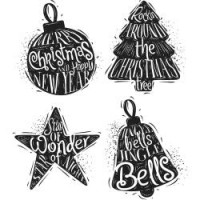 Tampons Tim Holtz - Carved Christmas #2