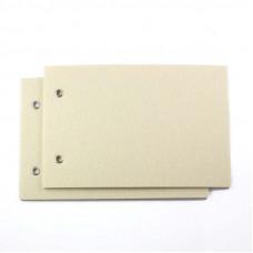 Felt Album Covers Cream - pair 12 x 18 cm