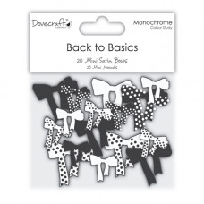 Dovecraft Back to Basics Monochrome – Mini Bows