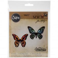 Sizzix Thinlits Die - Detailed Butterflies, Mini