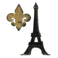 Fleur De Lis & Eiffel Tower SIZZIX DIE Tim Holtz