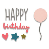 Happy Birthday Sizzix Thinlits Dies