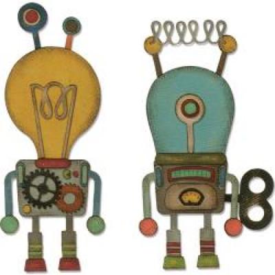 Sizzix Thinlits die Robotic 664162 By Tim Holtz