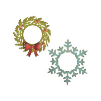 Wreath & Snowflake Sizzix Thinlits Dies By Tim Holtz 5/Pkg