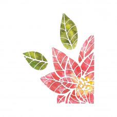 Poinsettia Pieces Sizzix Thinlits Dies By Tim Holtz 3Pkg